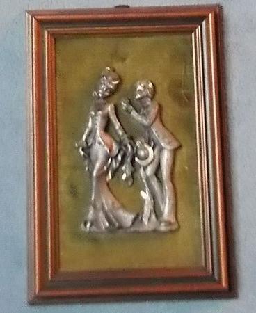 Achat : Cadre avec personnages en étain - saint-valentin 3  (Cadres) - Cadres neuf et d'occasion - Achat et vente