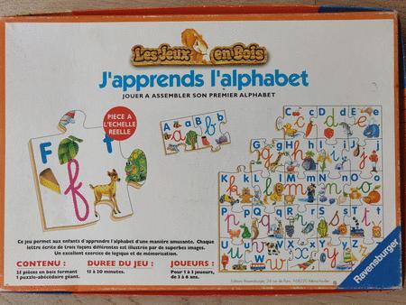 Achat : Jeu j'apprends l'alphabet  (Jeux lecture, ecriture) - Jeux lecture, ecriture neuf et d'occasion - Achat et vente