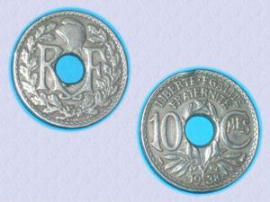 Magnifique piece de 10 cts de 1938 - iiie républiq
