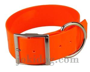 Collier biothane 50 mm x 60 cm orange