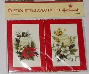 Eiquettes fil or