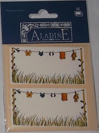 Loisirs créatifs - Etiquettes Aladine