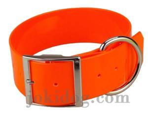 Collier biothane 50 mm x 70 cm orange