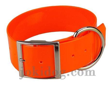 Achat : Collier biothane 50 mm x 70 cm orange  (Colliers pour chiens) - Colliers pour chiens neuf et d'occasion - Achat et vente
