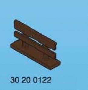 Rampe bois balcon 60mn  playmobil