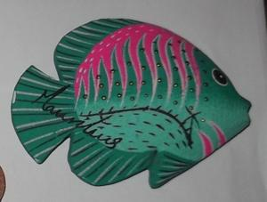 Magnet bois - poisson tropicel - île maurice