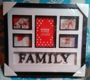 Cadre photo ariane family (neuf)