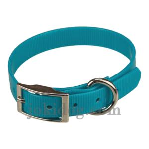 Collier biothane 19 mm x 45 cm turquoise