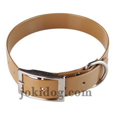 Achat : Collier biothane 25 mm x 60 cm marron clair  (Colliers pour chiens) - Colliers pour chiens neuf et d'occasion - Achat et vente
