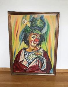 Clown orginal crazy w. schärer signé 1990