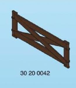 Grande barrière bois  playmobil