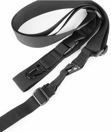Achat : Bretelle noire pour armes avec clips (neuve)  (Accessoires chasse) - Accessoires chasse neuf et d'occasion - Achat et vente