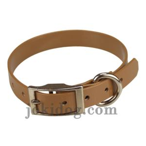 Collier biothane 19 mm x 45 cm marron clair