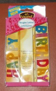 Bougies lettres