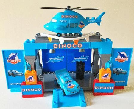 Achat : Le podium bleu cars dinoco lego mega bloks  (Briques de construction) - Briques de construction neuf et d'occasion - Achat et vente