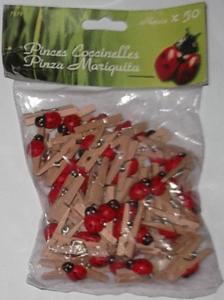 Mini pinces coccinelles