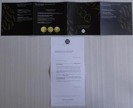 Achat : Dépliant monnaie de paris le coq notre patrimoine  (Pièces) - Pièces neuf et d'occasion - Achat et vente