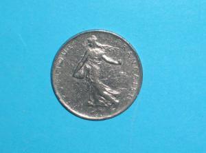 Pièce - france - 1968 - 1 f - semeuse