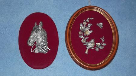 Achat : Cadre avec motif en étain - oiseau  (Cadres) - Cadres neuf et d'occasion - Achat et vente
