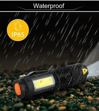 Achat : Lampe torche tactique avec bande latéral cob neuve  (Lampes, eclairage pour randonnée) - Lampes, eclairage pour randonnée neuf et d'occasion - Achat et vente