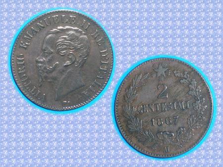 Achat : Piece - italie - 1867 - 2 centesimi - victor emman  (Pièces) - Pièces neuf et d'occasion - Achat et vente