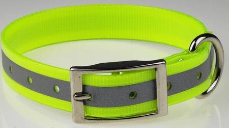 Achat : Collier fluo réfléchissant 25 mm jaune  (Colliers pour chiens) - Colliers pour chiens neuf et d'occasion - Achat et vente