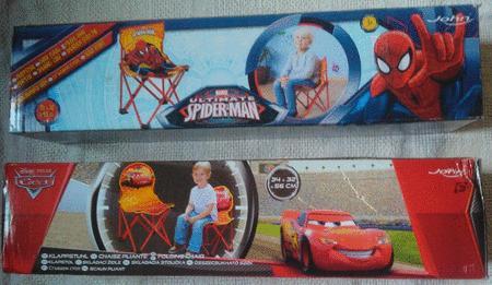 Achat : Chaise pliante ou de camping cars ou spiderman  (Fauteuils enfants) - Fauteuils enfants neuf et d'occasion - Achat et vente
