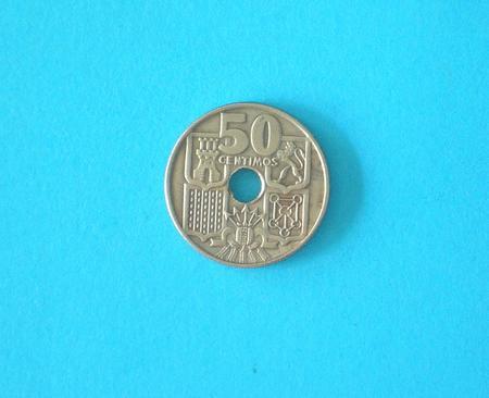 PIECE - ESPAGNE - 1949 - 50 CENTIMOS