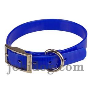 Collier biothane 19 mm x 45 cm bleu roi