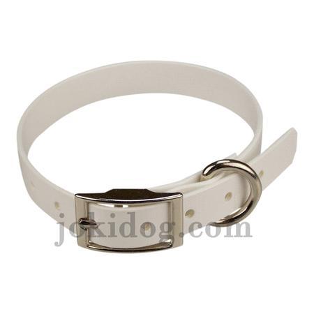 Achat : Collier biothane 19 mm x 45 cm blanc  (Colliers pour chiens) - Colliers pour chiens neuf et d'occasion - Achat et vente
