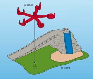 Playmobil aire de jeu avec tobogan et manège