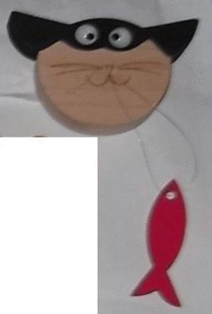 Achat : Magnet chat poisson  (Autres objets décoratifs) - Autres objets décoratifs neuf et d'occasion - Achat et vente