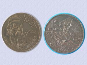 Belle piece 10 f - centenaire francois rude - 1984