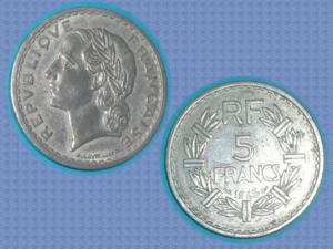 Piece - france - 1945 - 5 f