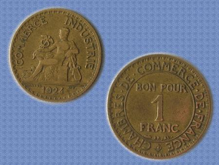 Achat : Piece tbe - 1924 - bon pour 1f - iiie république  (Pièces) - Pièces neuf et d'occasion - Achat et vente
