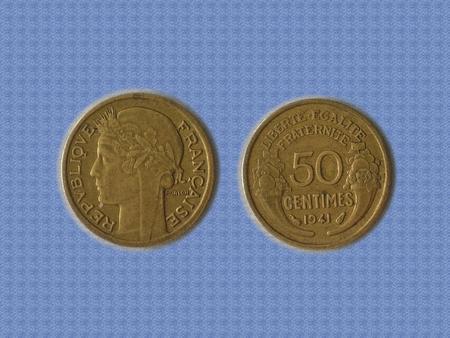 Achat : Piece en tres bon etat de 1941 - 50 cts - morlon -  (Pièces) - Pièces neuf et d'occasion - Achat et vente