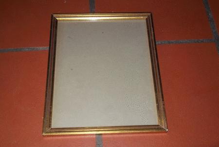 Achat : Cadre sous verre avec bordure en bois doré  (Cadres) - Cadres neuf et d'occasion - Achat et vente