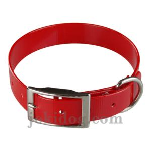 Collier biothane 25 mm x 55 cm rouge