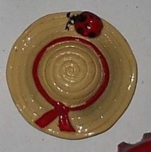 Magnet chapeau de paille