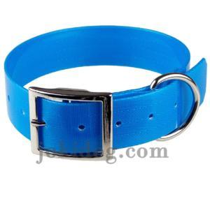 Collier biothane 38 mm x 60 cm bleu clair