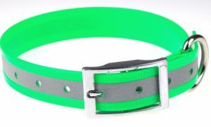 Collier fluo réfléchissant 25 mm vert