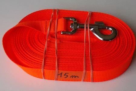 Achat : Longe 15m orange fluo  (Laisse pour chiens) - Laisse pour chiens neuf et d'occasion - Achat et vente