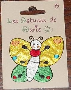 Autocollant brodé : papillon