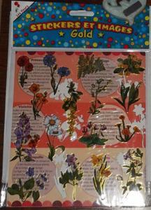 """Stickers gold """"les fleurs"""""""