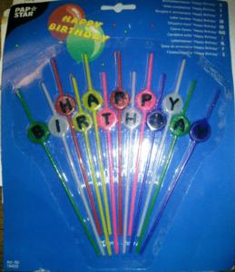 Bougies anniversaires sur tiges
