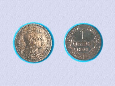 Achat : Incroyable état - piece 1 cts daniel-dupuis - 1902  (Pièces) - Pièces neuf et d'occasion - Achat et vente