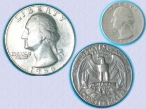 Très belle pièce quarter dollar de 1966 - washingt