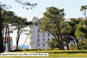 Location biarritz golf beach vue mer golf régina
