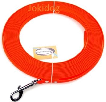 Achat : Longe biothane plate 13mm x 10 m orange  (Laisse pour chiens) - Laisse pour chiens neuf et d'occasion - Achat et vente