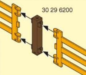 Playmobil poteau carre bois pour clôture